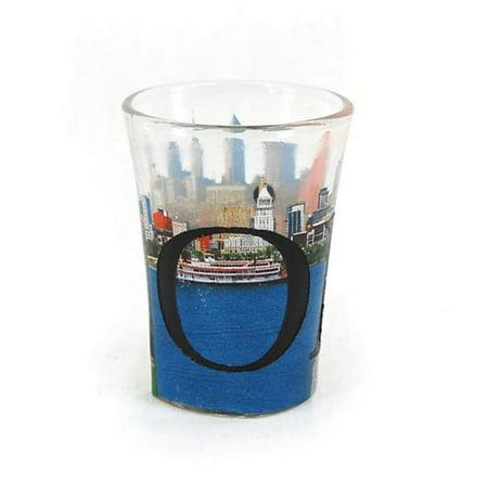 Americaware SGOHI01 Ohio Verre - liqueur - l'eau-forte polychrome - image 1 de 1