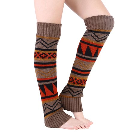 Winter Warm Cable Knitted Crochet Leg Warmer Boot Cuffs Boot Long Socks Cover Legging for Women Girls - Leg Warmer For Boots
