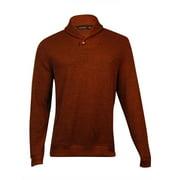 Tasso Elba Men's Shawl Ribbed Pullover (Spice Blend, L)