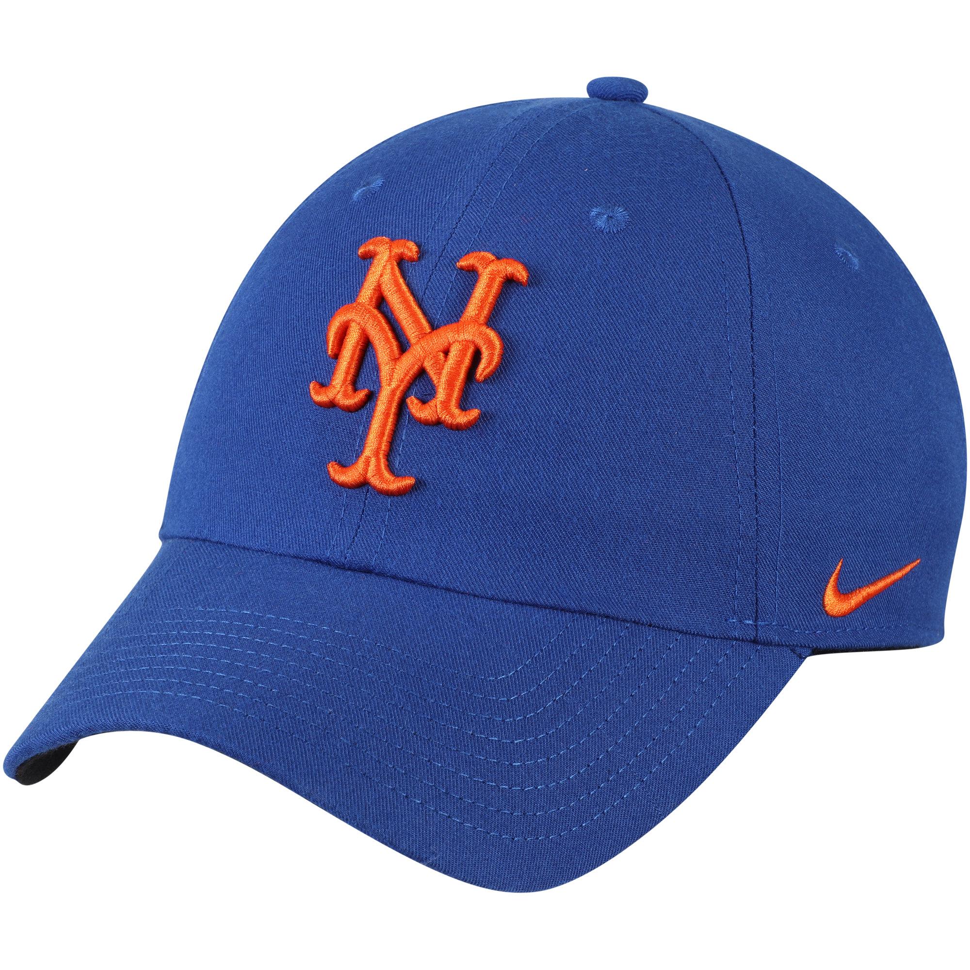 New York Mets Nike Heritage 86 Stadium Performance Adjustable Hat - Royal - OSFA