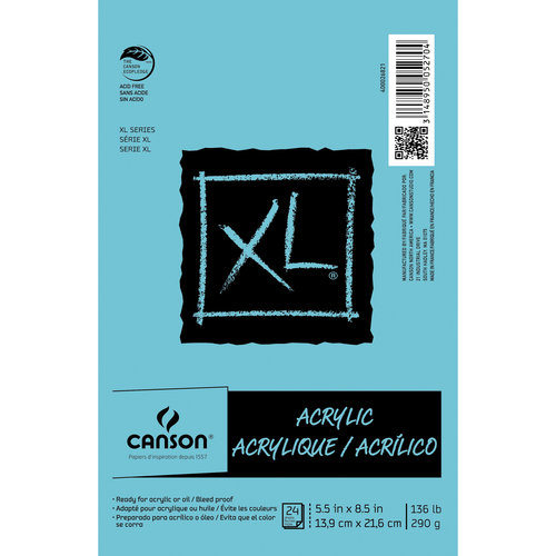 "Canson XL 5.5"" x 8.5"" Acrylic Pad, 24 Sheets"
