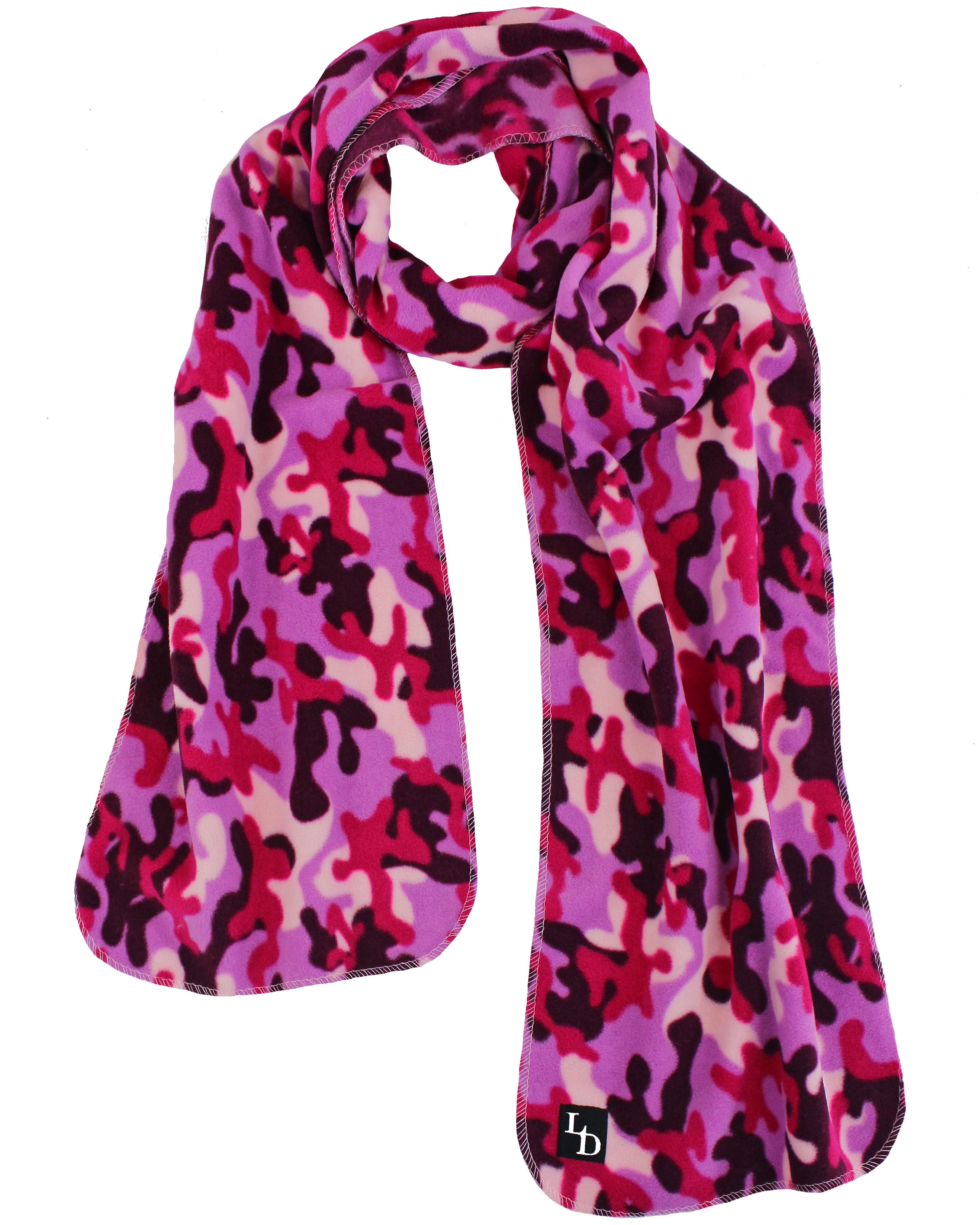 Camouflage Fleece Scarf Gloves & Hat Set - Walmart.com