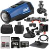 Coleman Aktivsport CX9WP GPS HD Video Action Camera Camcorder (Blue) with 32GB Card + Car Suction Cup & Dashboard Mounts + Case + HDMI Cable + Kit