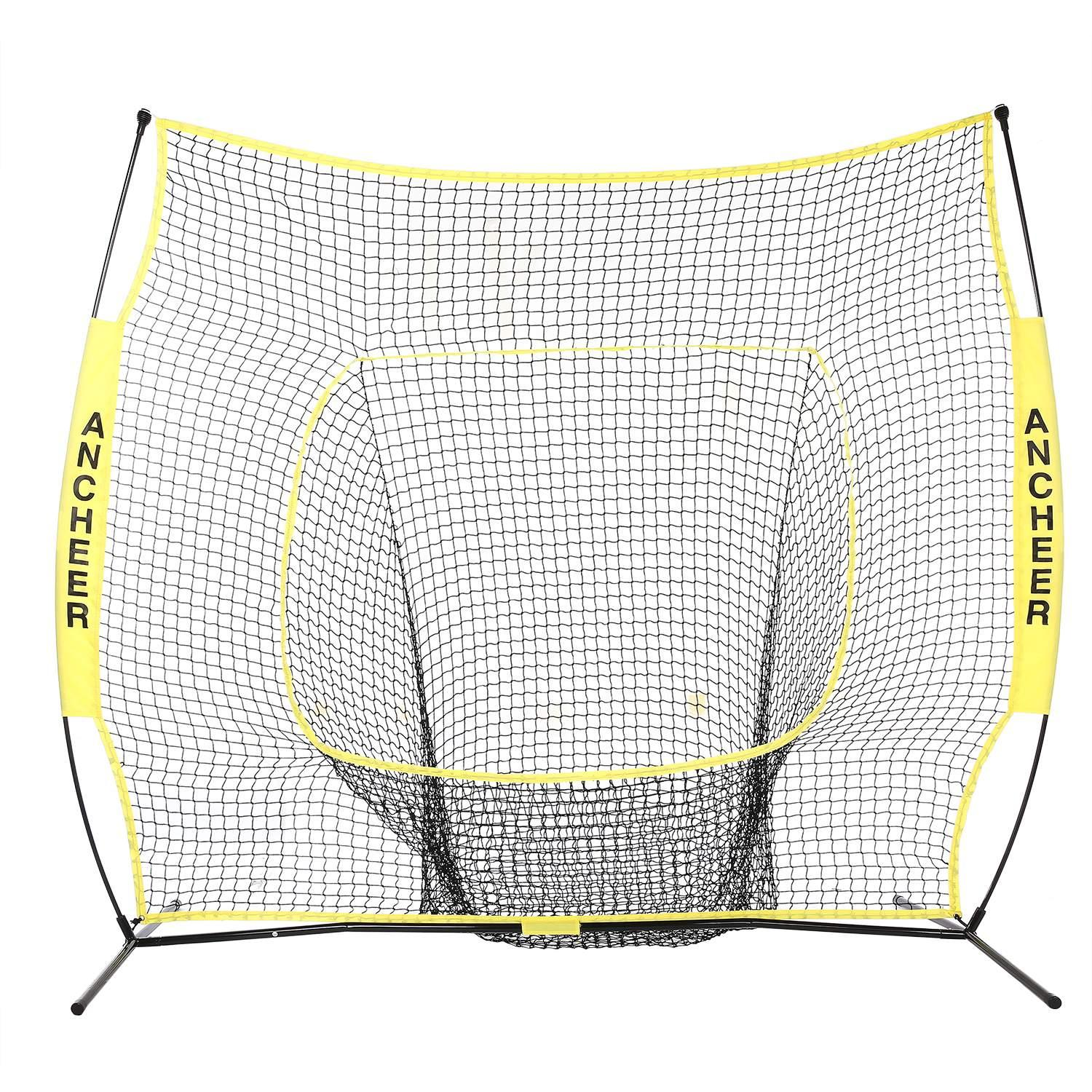 Holiday Special Elecmall 7 x 7ft Baseball Softball Practice Net with Bow Frame Elec by