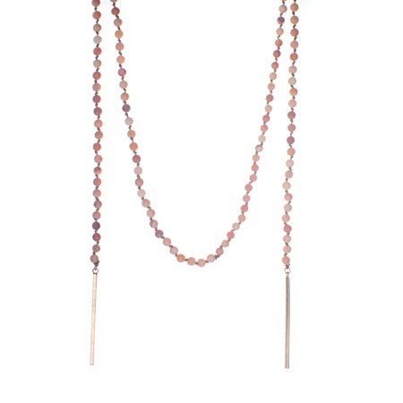 Long Lariat - Vintage-Inspired Long Beaded Lariat Wrap Necklace