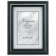 Black Wood 4x6 Picture Frame - Silver Bead Design