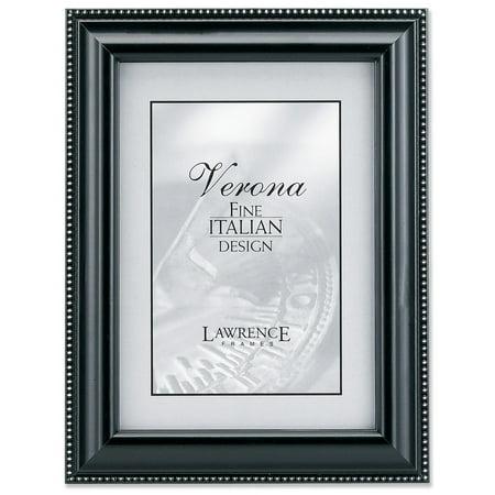 black wood 4x6 picture frame silver bead design. Black Bedroom Furniture Sets. Home Design Ideas