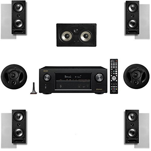 Polk Audio 2265RT 7 Channel Speaker Package with 90RT and Denon AVRX2300W AV Receiver by Polk Audio