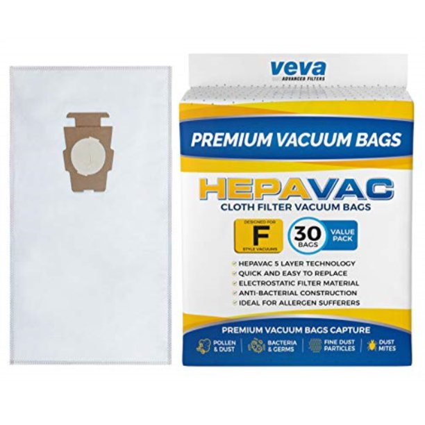 Veva 30 Pack Premium Hepa Vacuum Bags Style F Cloth Bag Compatible With Kirby Replacement Type
