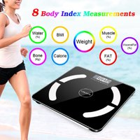UBesGoo Toughened glass Weight Scale Blueteeth Smart LCD Weight Scale Fat Health Calorie Test Scale