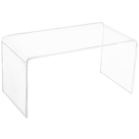 0.78 Inch Thick Rectangle All Acrylic Glass Waterfall Coffee Table - Clear ()