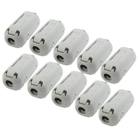Unique Bargains UF35B Noise Filter Ferrite Clip for 5mm Dia Audio Video Cable 10 Pcs