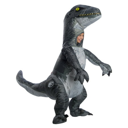 Jurassic World: Fallen Kingdom Childrens Velociraptor Inflatable Halloween Costume With Sound - Halloween Horrors The Sounds Of Halloween