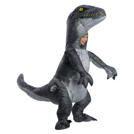 Childrens Bear Costume (Jurassic World: Fallen Kingdom Childrens Velociraptor Inflatable Halloween Costume With)