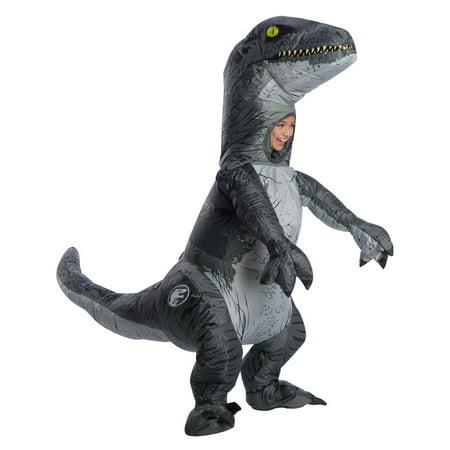 Jurassic World: Fallen Kingdom Childrens Velociraptor Inflatable Halloween Costume With Sound](Inflatable Football Halloween Costume)