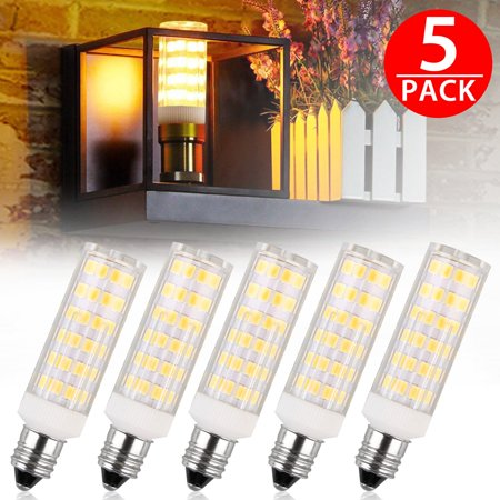 TSV E11 LED Bulb 50W 65W Halogen Bulbs Replacement,850 Lumens, Mini Candelabra Base 110V Input pack of