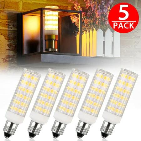 TSV E11 LED Bulb 50W 65W Halogen Bulbs Replacement,850 Lumens, Mini Candelabra Base 110V Input pack of 5
