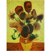"Oriental Furniture Sunflowers Canvas Wall Art, 31.5""H x 23.5""W"