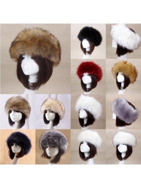 New Thick Fluffy Russian Cap Faux Fur Headband Hat Winter Earwarmer Ski Hats Hot