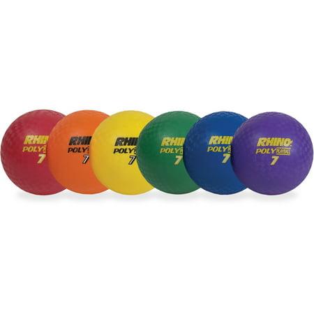Champion Sports, CSIPX85SET, Rhino Skin PG 8.5 Playground Balls, 6 / Set, Assorted