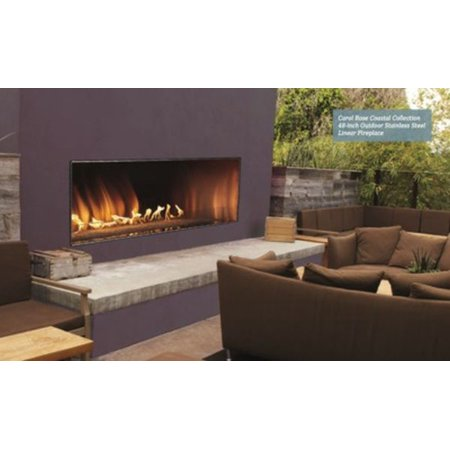 Outdoor 60 Ss Manual Ignition Linear Fireplace Natural Gas