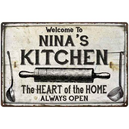NINA\'S Kitchen Farmhouse Sign 8 x 12 High Gloss Metal 208120033271