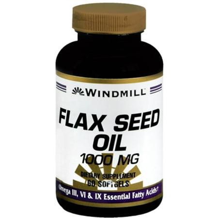 Windmill Flax Seed Oil 1000 mg Softgels 60 Soft Gels