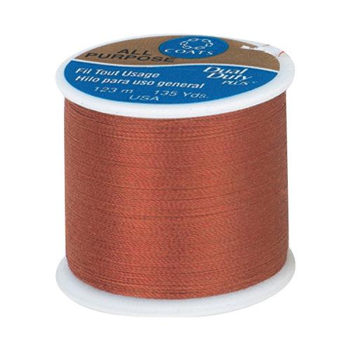 Coats & Clark Dual Duty Plus Thread, 135 yds, Bright Rust