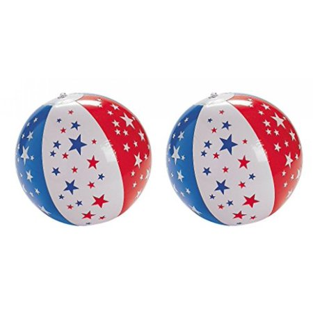 9 Inflatable Patriotic Star Beach Ball Pack Of 2