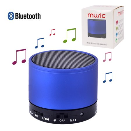 Mini Soundworx Super-Portable Bluetooth Speaker with 6-Hour Playtime, 32-Foot Bluetooth Range, Enhanced Bass, with Mic FM Radio Support TF Card Blue ...