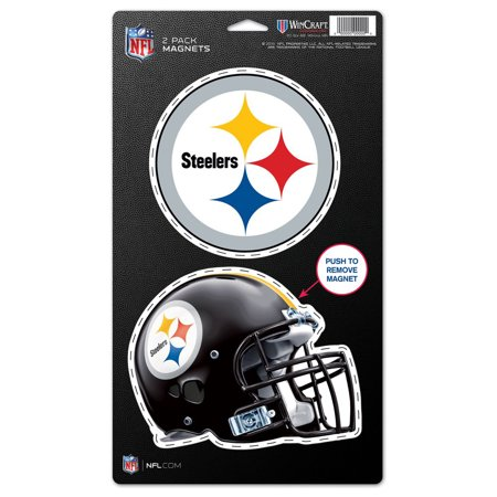 "Pittsburgh Steelers WinCraft 5"" x 9"" 2-Pack Magnet Set - No Size"