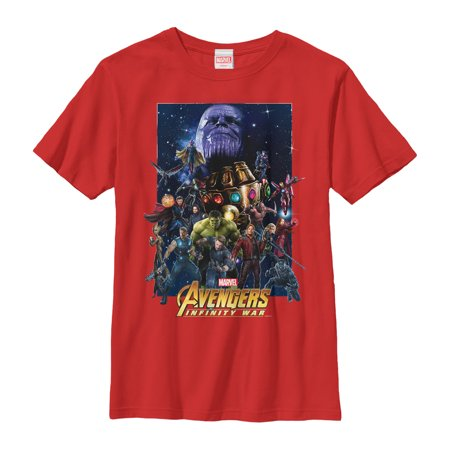 Marvel Boys' Avengers: Infinity War Character Collage T-Shirt - Marvel Boys