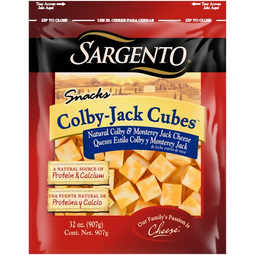 Sargento Snacks Colby-Jack Cheese Cubes, 32 oz