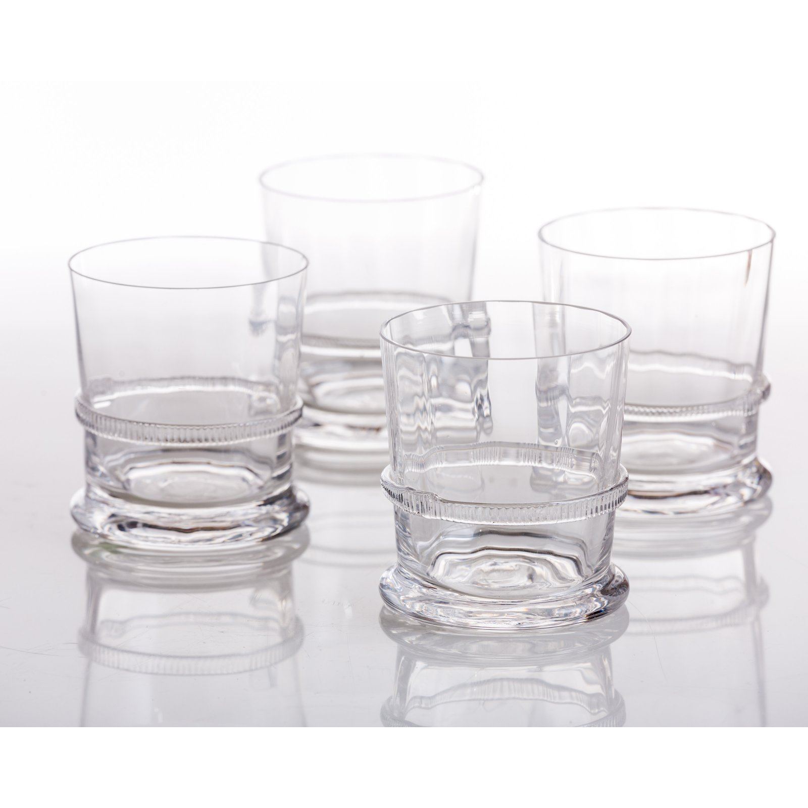 Abigails Lions Head Double Old Fashioned Glass - Set of 4