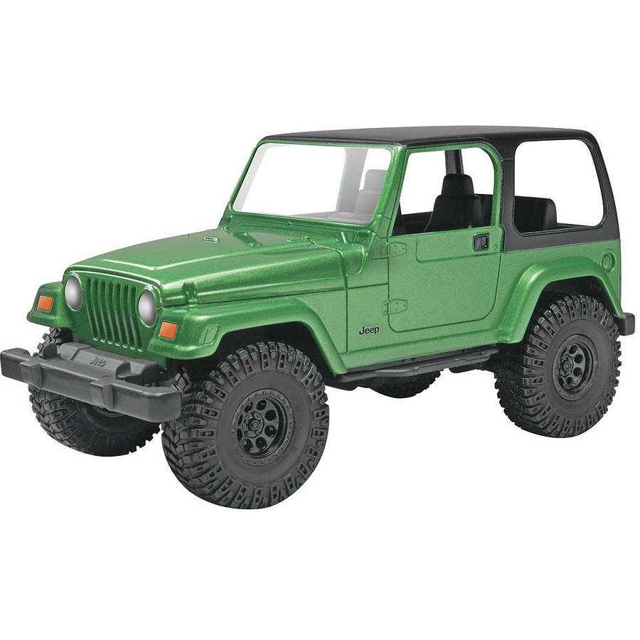 Revell Snap Tite Build & Play Jeep Wrangler Rubicon 1:25 Scale Plastic Model Kit, Multi-Colored