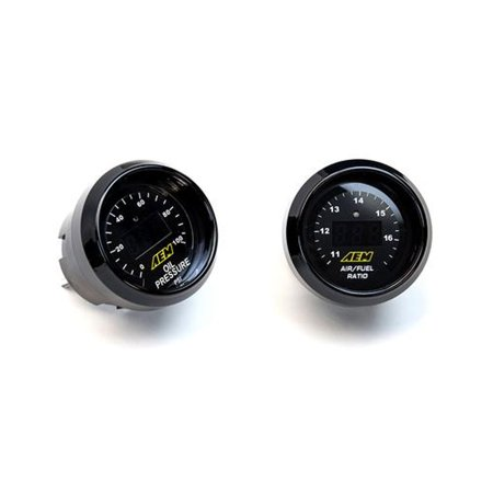 Aem Universal 2 Gauge Set Kit 52Mm Uego Wideband Air   Fuel Ratio   Oil Pressure