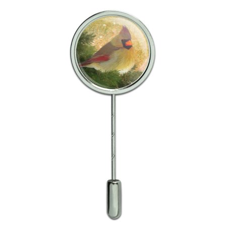 - Christmas Holiday Cardinal Bird Stick Pin Stickpin Hat Brooch