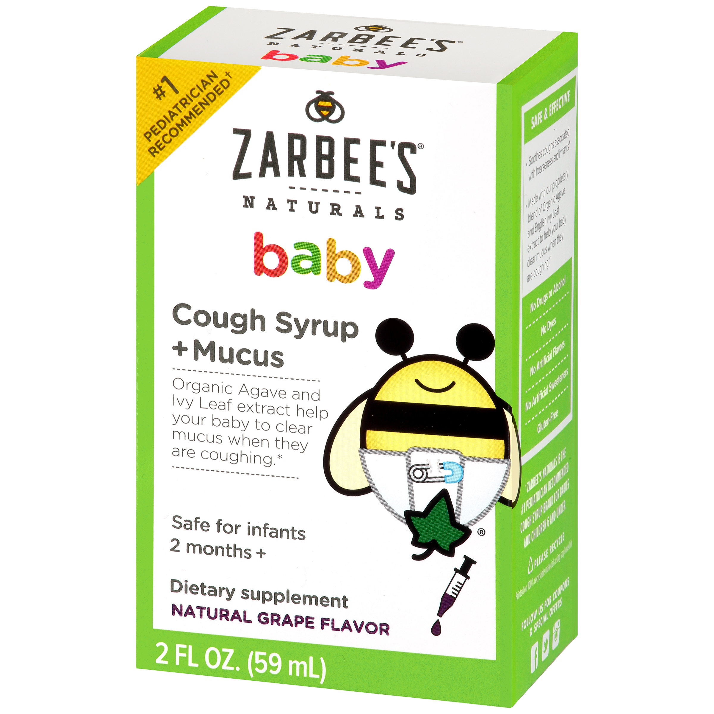 Zarbee\'s Naturals Baby Cough Syrup + Mucus Dietary Supplement ...
