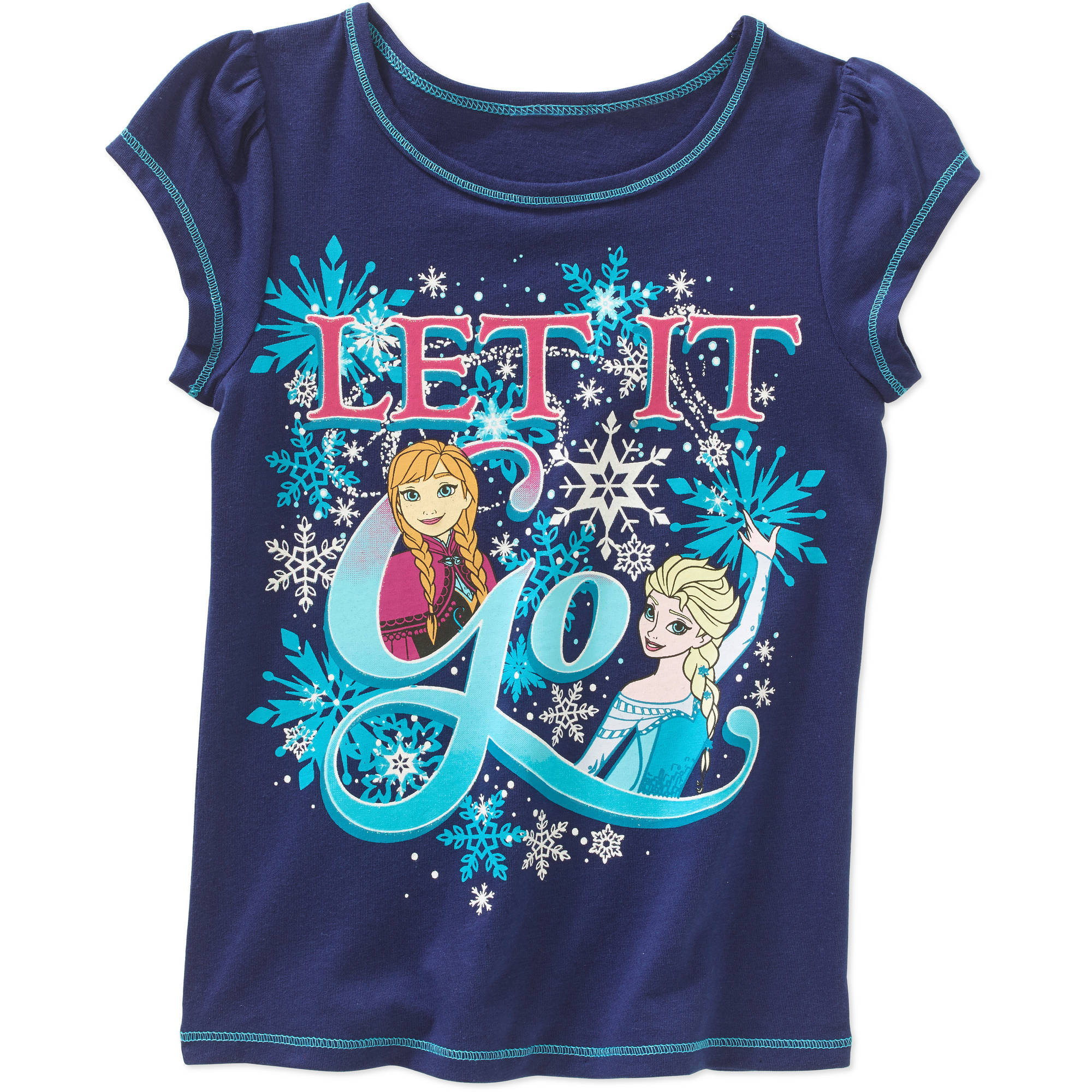 Disney Frozen Toddler Girls' Let It Go Short Sleeve Tee