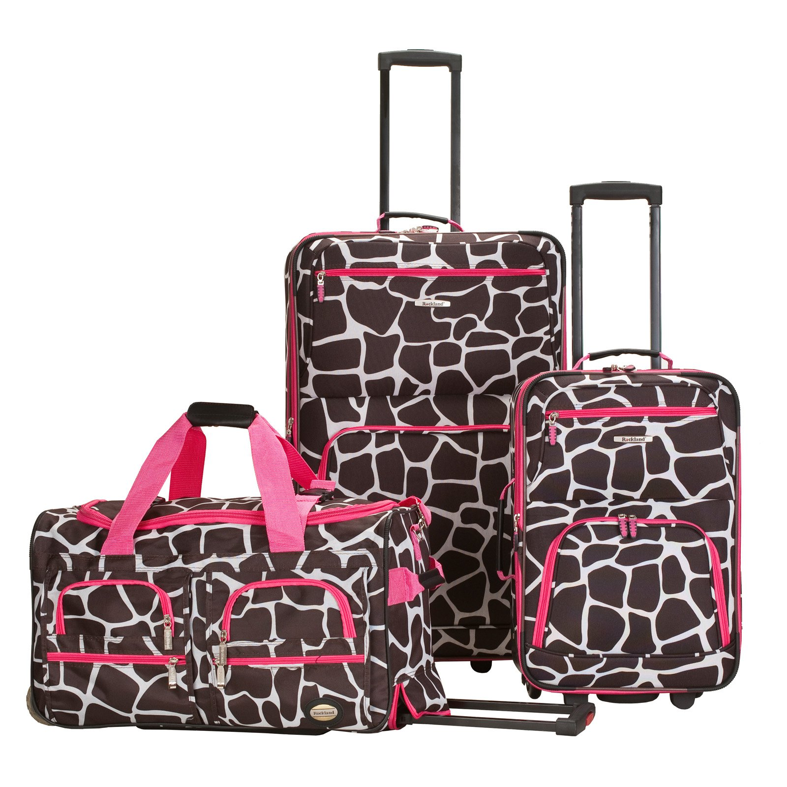 Rockland Luggage Spectra 3-Piece Rolling Luggage Set - Walmart.com