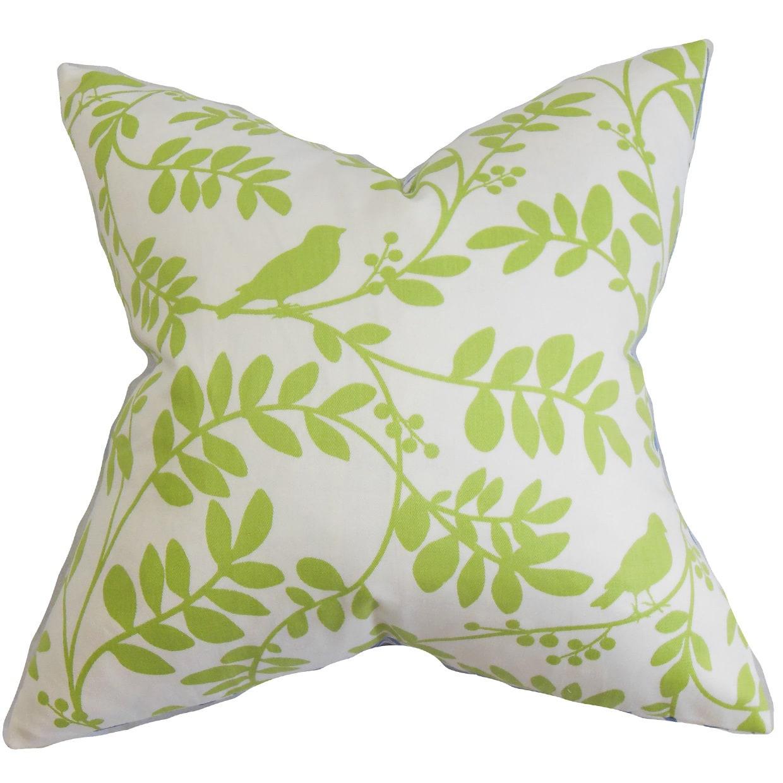 The Pillow Collection Nyssa Floral Euro Sham Green