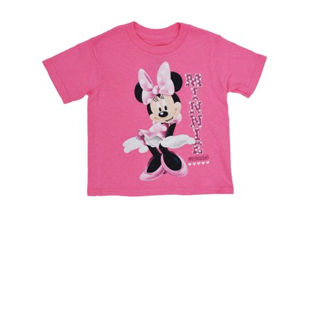 f4be08d2 Toddler Girls Minnie Mouse Glitter T-Shirt Pink - image 1 of 1 ...