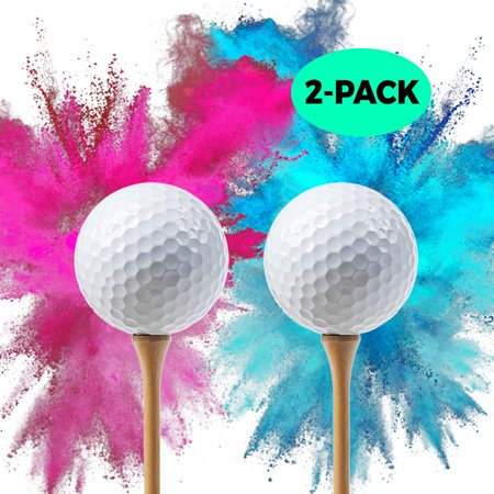 Baby Gender Reveal Cake Ideas (Baby Gender Reveal Exploding Golf Balls | 2-PACK Pink Ball and Blue Ball | Gender Reveal Smoke Bombs | Gender Reveal Party Supplies | Golf Ball Set | Baby Gender)