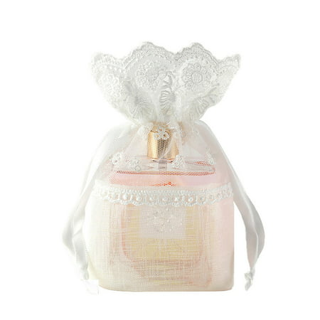 Slub Yarn Drawstring Bag Wedding Favor Bag Jewelry Candy Snacks Storage Pouch Gift Packing Pouch - image 1 of 8