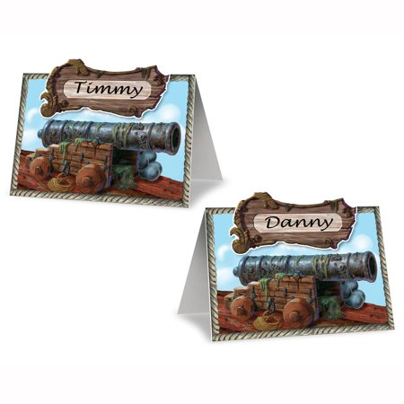 Pirate Cannon Place Cards (Pack of 12) - image 1 de 1