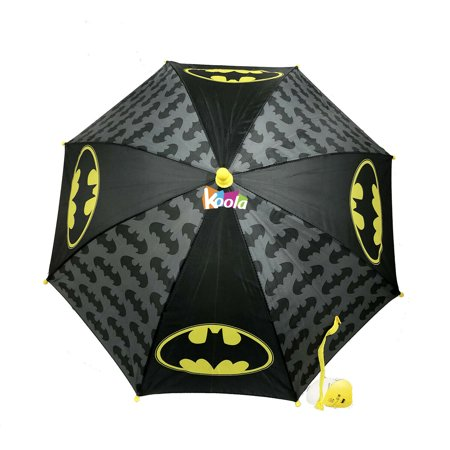 DC Comics Little Boys Batman Character Rainwear Umbrella, Black/Yellow, Age 3-7 ()