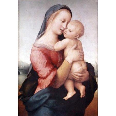Posterazzi SAL9005514 Madonna & Child - Tempi Madonna Raphael 1483-1520 Italian Poster Print - 18 x 24 in. - image 1 of 1