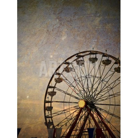 Vintage Ferris Wheel at the Ohio State Fair Print Wall Art By pdb1