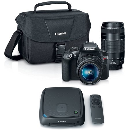Canon Eos Rebel T6 Slr Camera W  18 55Mm And 75 300Mm Lens Kit   Cs100 1Tb Connect Station Storage Hub Bundle
