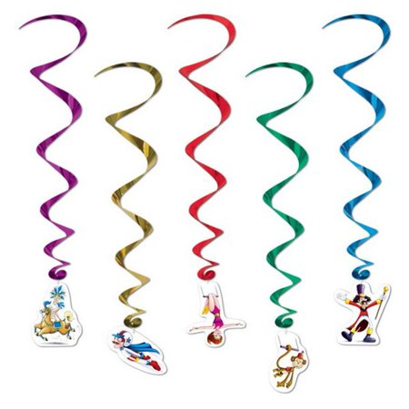 Beistle  Plastic Company Circus Whirls - Multi Colored